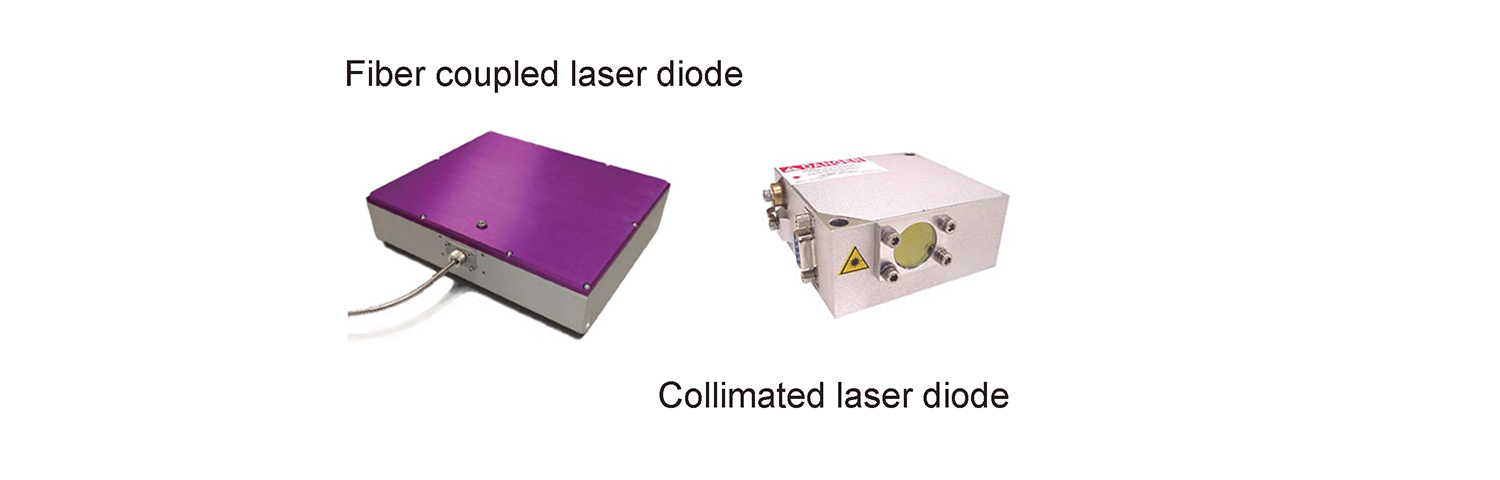 Fiber coupled laser diode module and collomated laser diode module