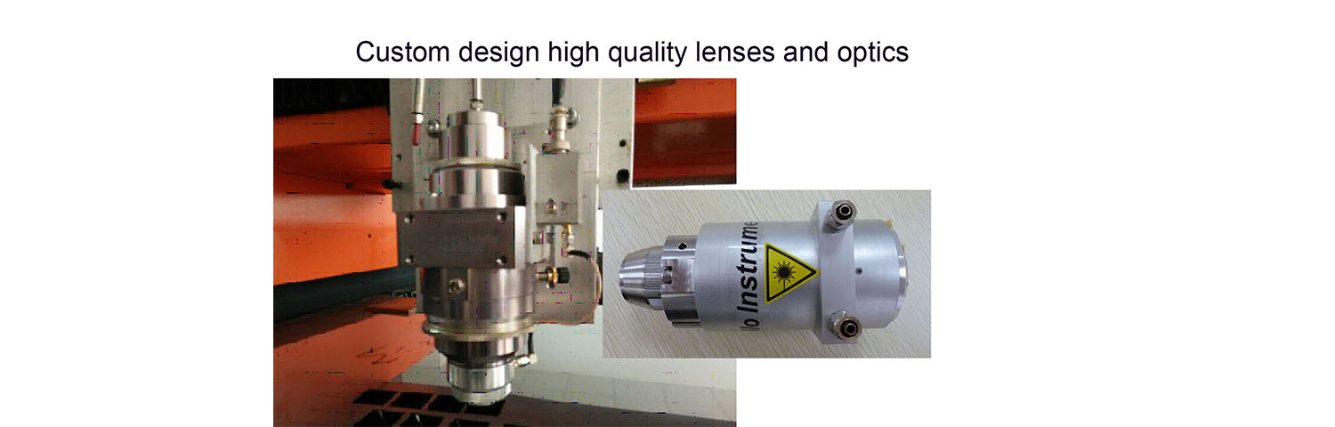 custom design lenses head for industrial laser processing